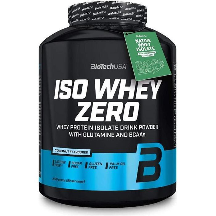 Iso Whey Zero 2270g Noix de Coco Biotech USA - Proteine Musculation