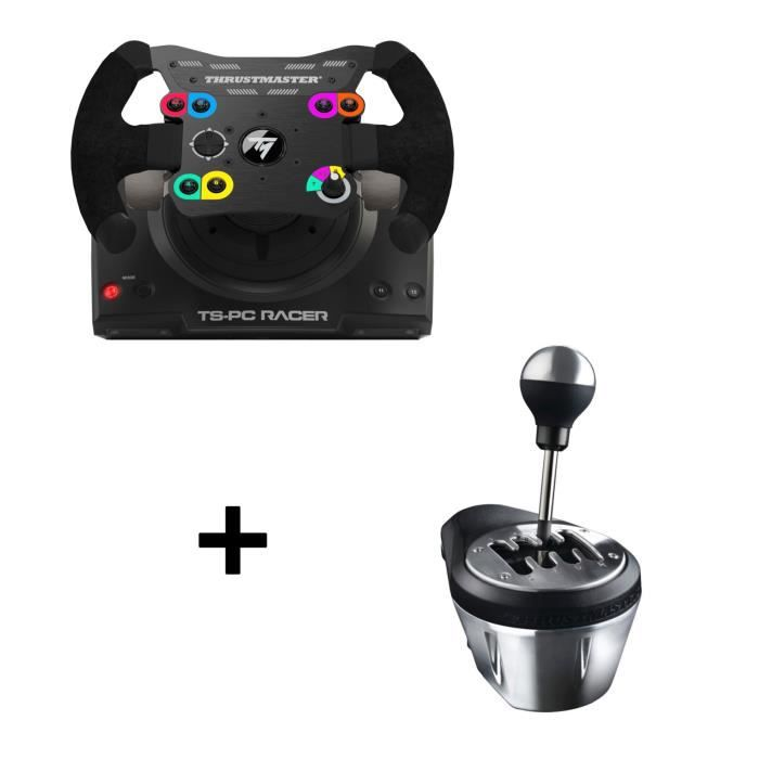 Pack Thrustmaster : Volant TS-PC Racer + Boite à 7 vitesses TH8A Add-On Shifter