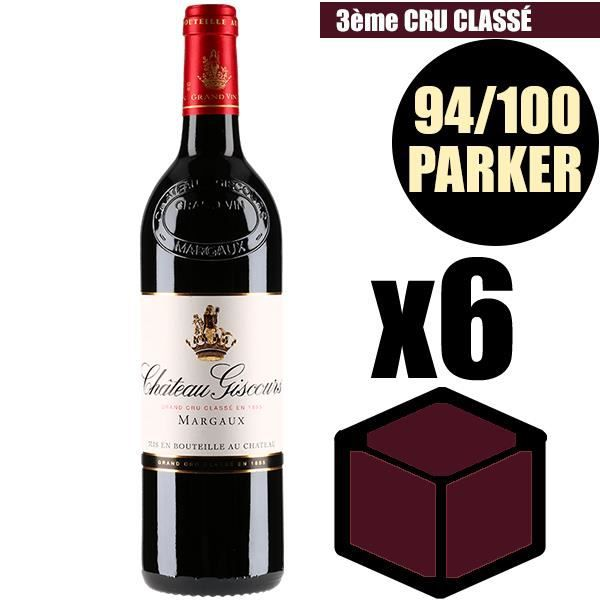 X6 Château Giscours 2015 75 cl AOC Margaux Rouge 3ème Cru Classé Vin Rouge