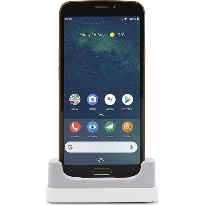DORO 8080 Smartphone - 4G LTE - 32 Go - MicroSD slot - GSM - 5.7- - 1440 x 720 pixels - 16 MP - Android - Noir