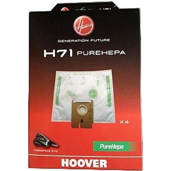 Boite de 4 sacs H71 (230450-24647) - Aspirateur - HOOVER (15393)