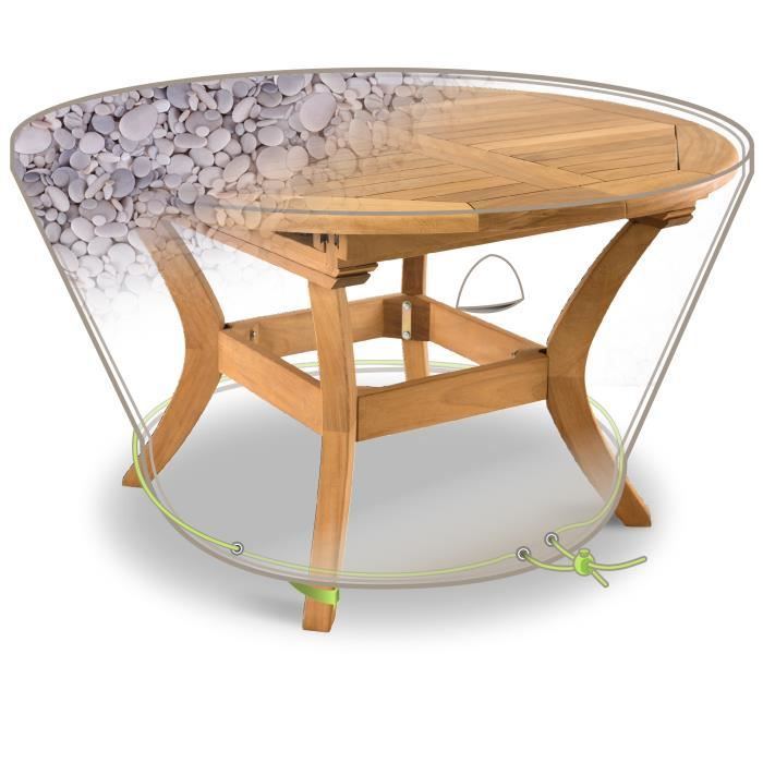 HOUSSE DE PROTECTION IMPRIMEE TABLE RONDE 6 PERS.