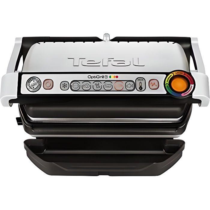 Tefal GC712D12 Optigrill+ Grille Electrique Aluminium Gris-Noir 36,5 x 34,5 x 18 cm GC712D12