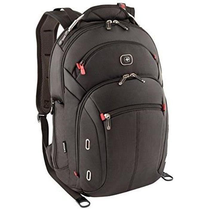 WENGER 68374001 Gigabyte 15 Sac à Dos pour Ordinateur Portable/Macbook/Tablette avec Pochette pour Ipad 15 Noir 60627