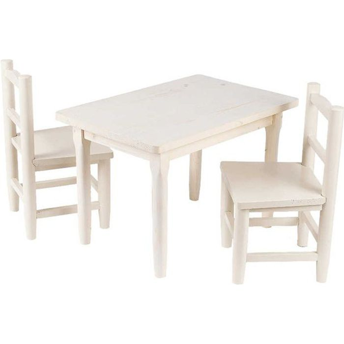 salon table et chaises pour enfant blanc achat vente table et chaise 3238920634853 cdiscount. Black Bedroom Furniture Sets. Home Design Ideas