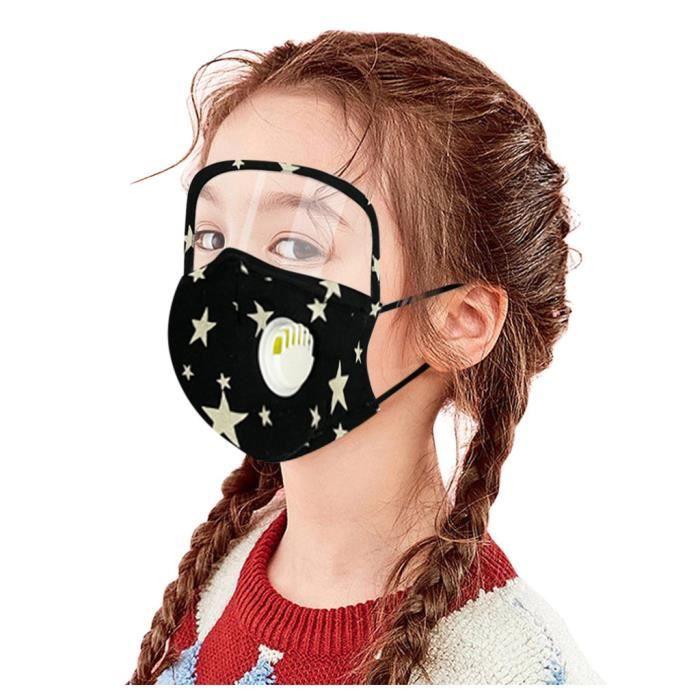 Masque de protection pour enfants intégré avec masque de protection des  yeux et soupape de reniflard + filtres - Prix pas cher - Cdiscount