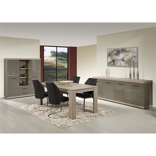table chene clair avec rallonge. Black Bedroom Furniture Sets. Home Design Ideas