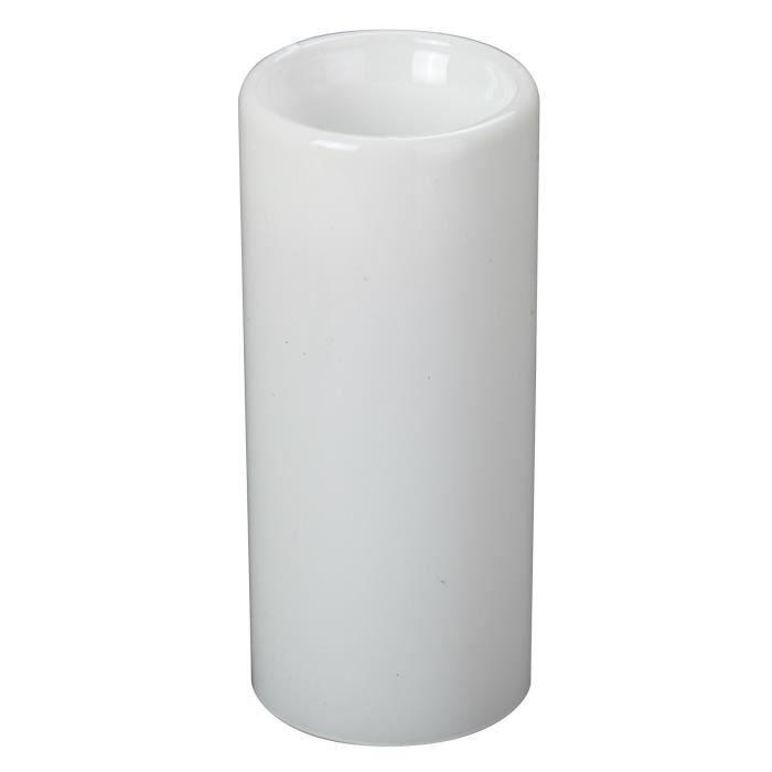 BOUGEOIR - CHANDELIER Bougeoir de Noël en verre - Ø 6 x H 13 cm - Blanc