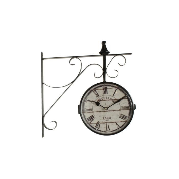 horloge de gare ancienne double face cafe de la achat. Black Bedroom Furniture Sets. Home Design Ideas