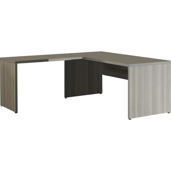 bureau d 39 angle 180 cm moderne coloris fr ne gris achat. Black Bedroom Furniture Sets. Home Design Ideas