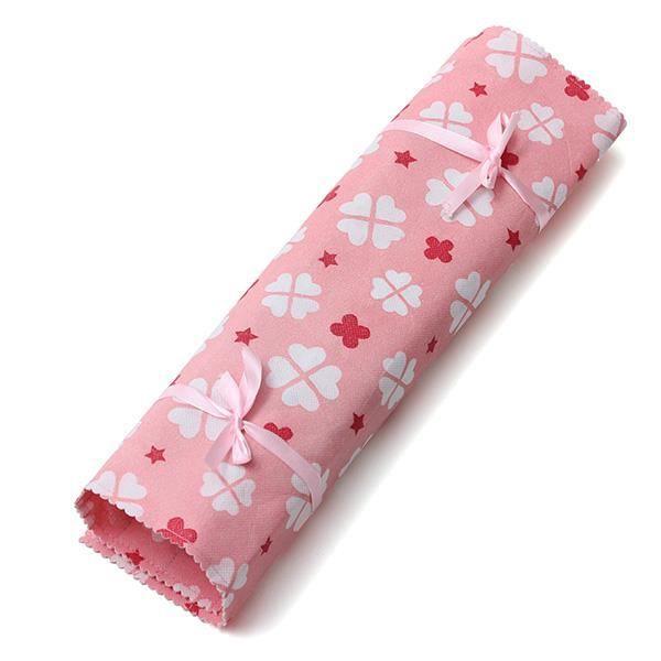Hobby /& Cadeau en bambou aiguille à tricoter Ensemble Cadeau Avec Floral Wrap Case Bleu...