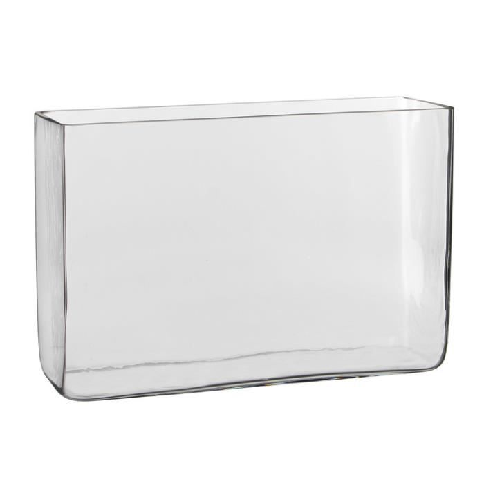vase rectangulaire en verre transparent 30x10x20cm britt achat vente vase soliflore. Black Bedroom Furniture Sets. Home Design Ideas