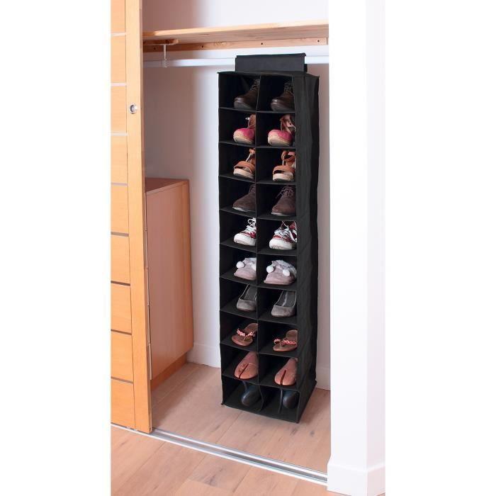 Casame Etagere Tissu Pour Rangement 20 Paires Chaussures 50 X 30 X 30 Cm Noir Achat Vente Colonne Suspendue Etagere Tissu Pour Rangement Cdiscount