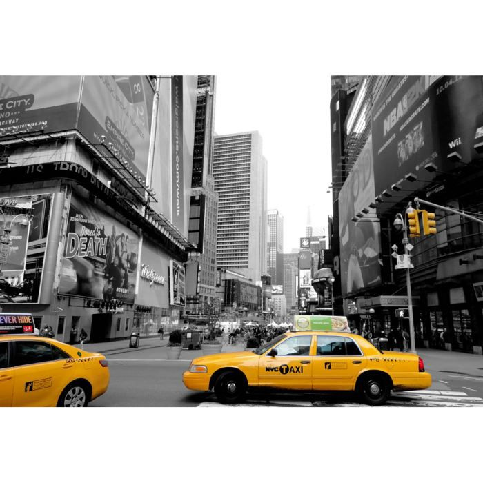 tableau new york taxi jaune achat vente tableau. Black Bedroom Furniture Sets. Home Design Ideas