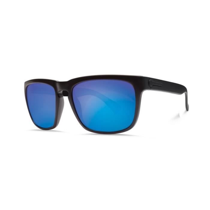 d9a83ffdb73070 LUNETTES DE SOLEIL ELECTRIC KNOXVILLE MATTE BLACK   OHM GREY BLUE CHROME