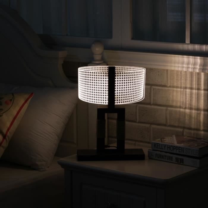 led lampe chevet lumi re nuit 3d lampe de table cadeaux de no l achat vente led lampe chevet. Black Bedroom Furniture Sets. Home Design Ideas