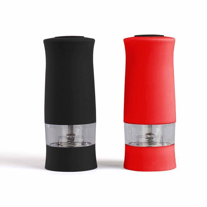 LIVOO Kitchen Artist MEN330RN Moulin /à /épices /électrique duo Rouge et Noir