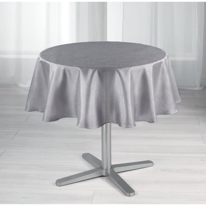 nappe ronde 180cm cristal gris achat vente nappe de. Black Bedroom Furniture Sets. Home Design Ideas