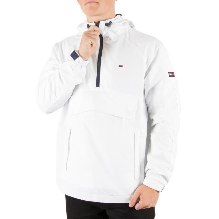 Tommy Hilfiger Denim Homme Pullover Cagoule Jacket Blanc
