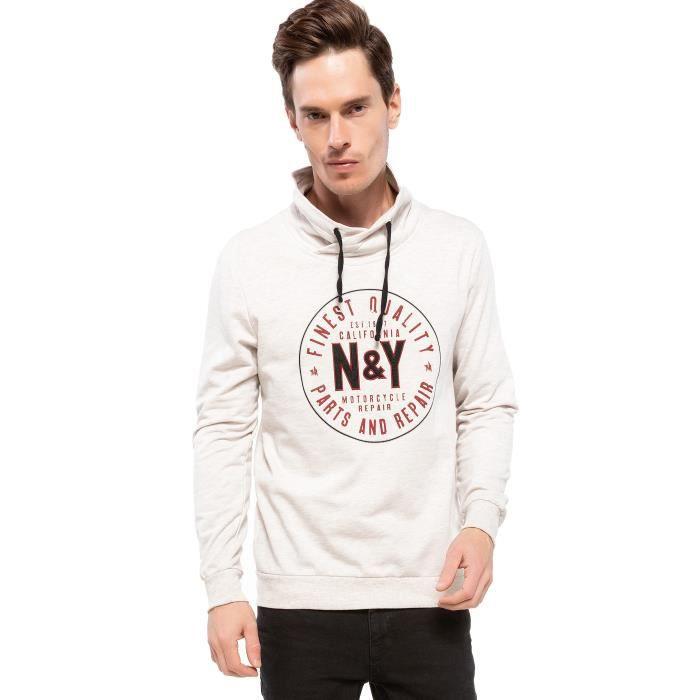 SWEATSHIRT DeFacto Sweatshirt beige claire N&Y imprimé