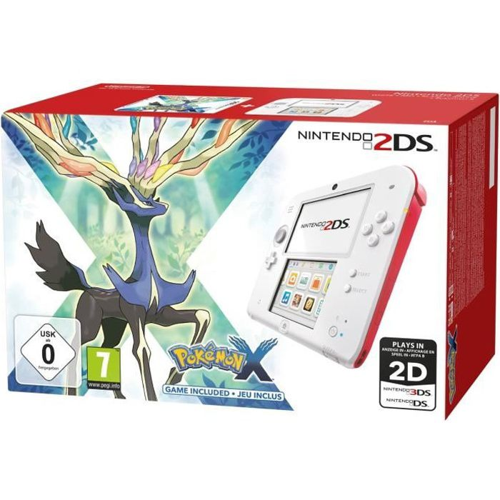 CONSOLE 2DS 2DS Rouge + Pokemon X