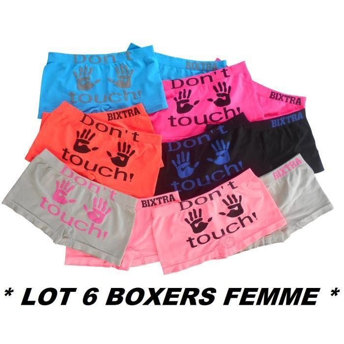 Lot de 3 shorty lingerie femme boxer culotte slip taille S//M ou L//XL neuf