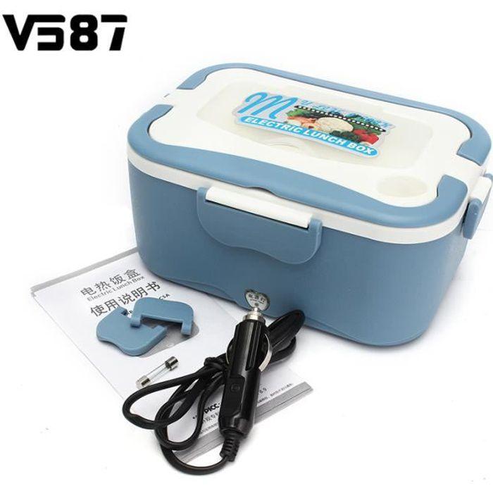 LUNCH BOX - BENTO  TEMPSA 12v Bleu Boîte À Repas Déjeuner Chauffante