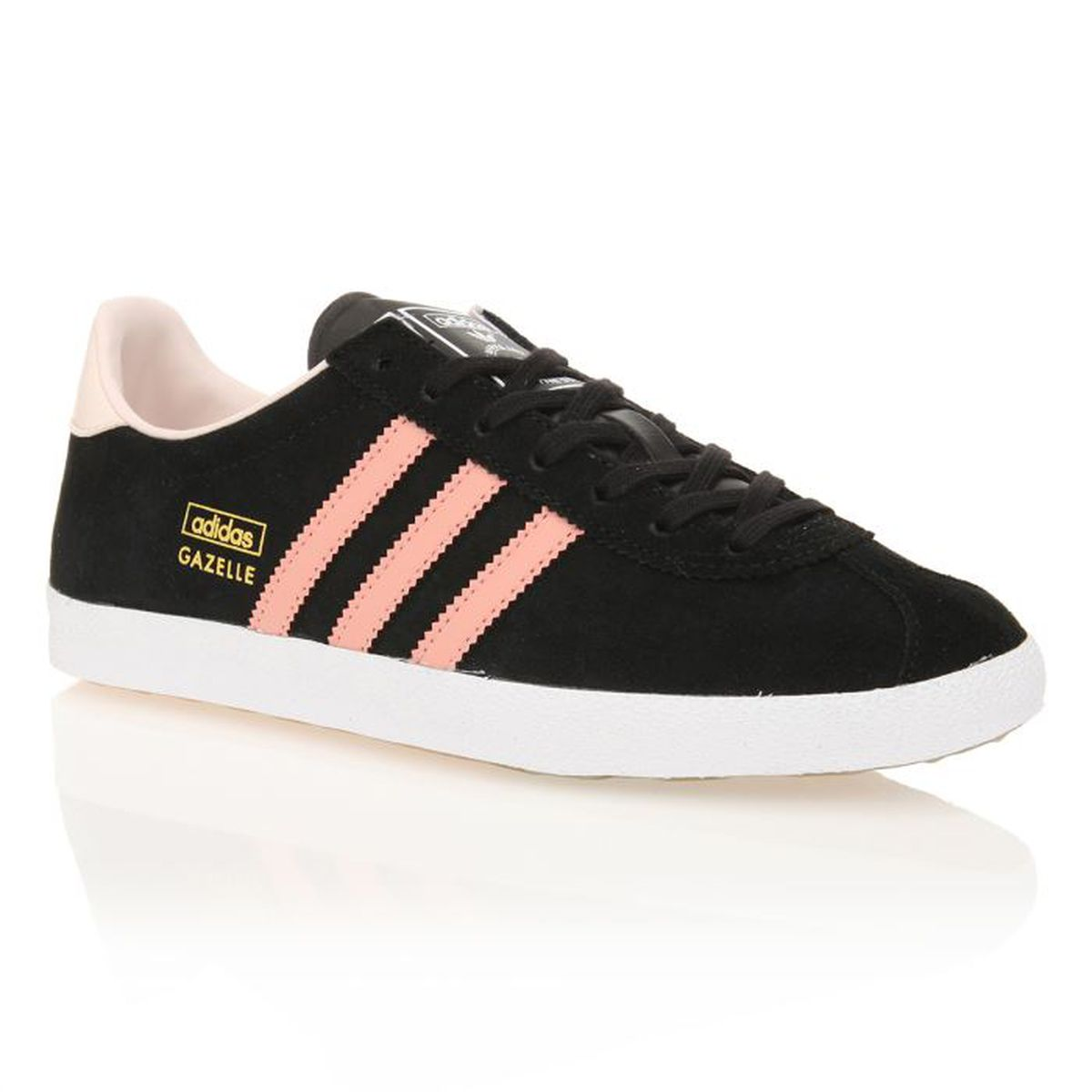 adidas originals baskets gazelle femme femme noir rose achat vente adidas baskets. Black Bedroom Furniture Sets. Home Design Ideas
