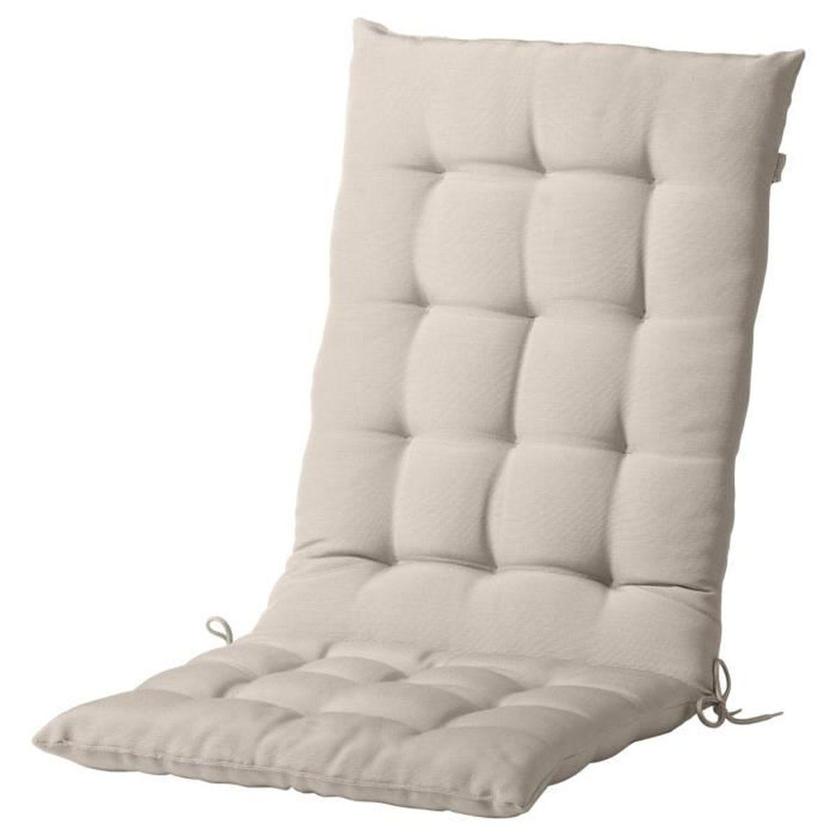 Grand Coussin Pour Exterieur coussin assise dossier couleur beige pour chaise terrasse ou