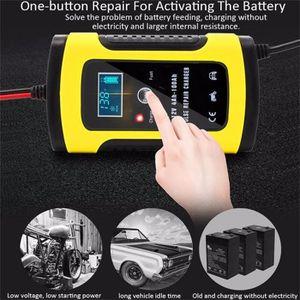 CHARGEUR DE BATTERIE LCD intelligent 12V 6A Automobile Acide de plomb i