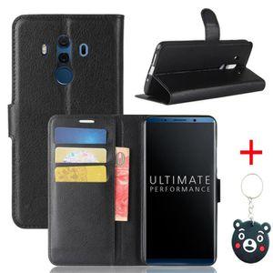 HOUSSE - ÉTUI Noir Coque Huawei Mate 10 Pro Housse - avec Suppor