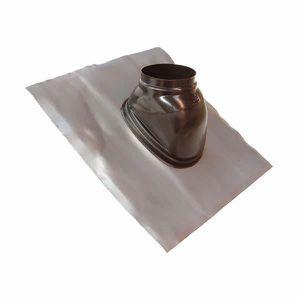 CHEMINÉE Solin plomb pour pente de 5 a 25° noir avec rotule
