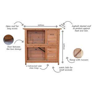 CLAPIER Bentley pets - Cage 2 niveaux - animaux domestique