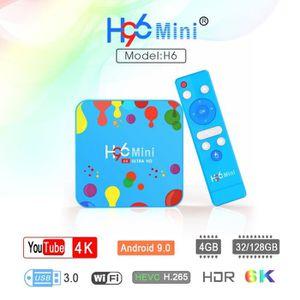 BOX MULTIMEDIA H96 MINI H6 TV box Android 9.0 4Go+128Go TV 4K HDR