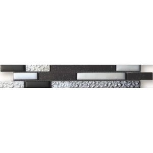 CARRELAGE - PAREMENT Listel en pate de verre et carrelage Onyx - 5 x 30