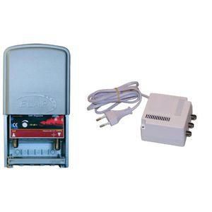 REPETEUR DE SIGNAL Kit amplificateur de mât TNT UHF 40 dB réglable fi