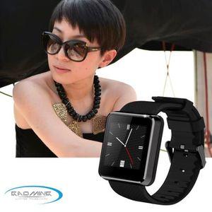 MONTRE CONNECTÉE montre Smart Watch F1 noire étanche pour téléphone