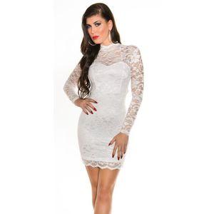 ROBE robe courte blanche dentelle sexy glamour femme so