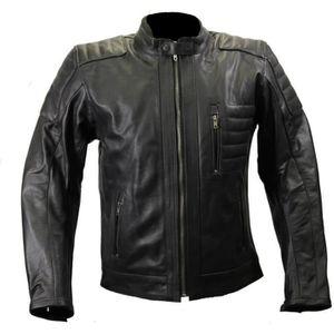 BLOUSON - VESTE Blouson moto en cuir noir Karno Vintage URBANE