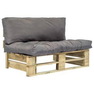 Canapé de jardin FAUTEUIL DE JARDIN palette avec coussins ...