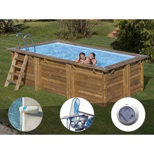 PISCINE Kit piscine bois Sunbay Marbella 4,27 x 2,77 x 1,1