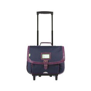 CARTABLE Tann's - Cartable à roulettes bleu et violet 38cm