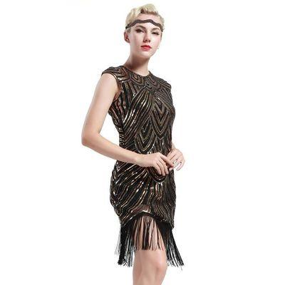 Robe W688e Les Annees 1920 Femmes Flapper Costume De Deguisement Gatsby Le Magnifique Robe Des Annees 1920 Fancy 20s Robe Perlee Fra Noir Achat Vente Robe Cdiscount