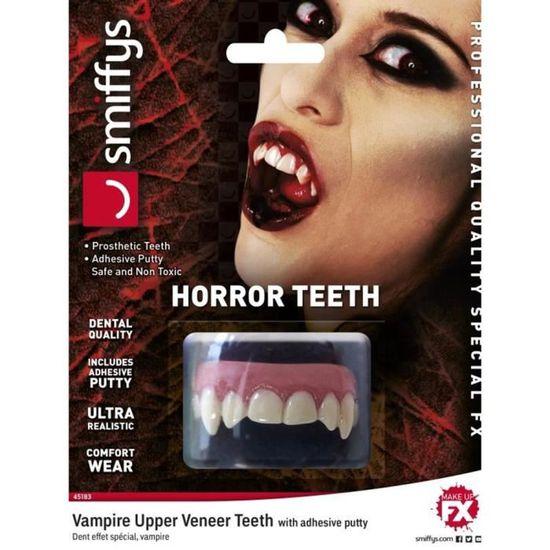 Homme Vampire Dents imprimé à encolure ras-du-cou à manches courtes Halloween Horreur Extensible Haut