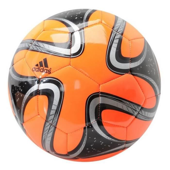 Ballon Brazuca Adidas Glider T5 Orange et Noir Coupe Du Monde de Football Brésil 2014