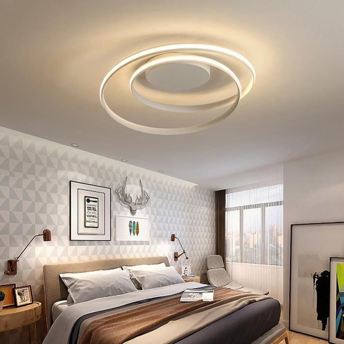 Plafonnier à LED Suspension Spirale Plafonnier Lampe Dimming Creative incurvée moderne 48W salon chambre LED avec télécommande
