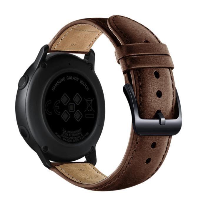 MONTRE OUTDOOR Bracelet de montre de remplacement en cuir pour Samsung Galaxy Watch active 20mm bg1428