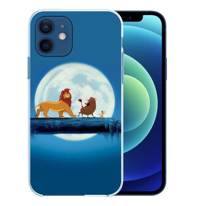 Coque pour iPhone 12 mini - Roi Lion Lune. Accessoire telephone