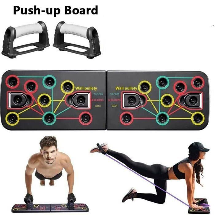 Support de Push-up, Push Up Board multifonction Équipement d'Entrainement de fitness pour Les Muscles Abdominaux