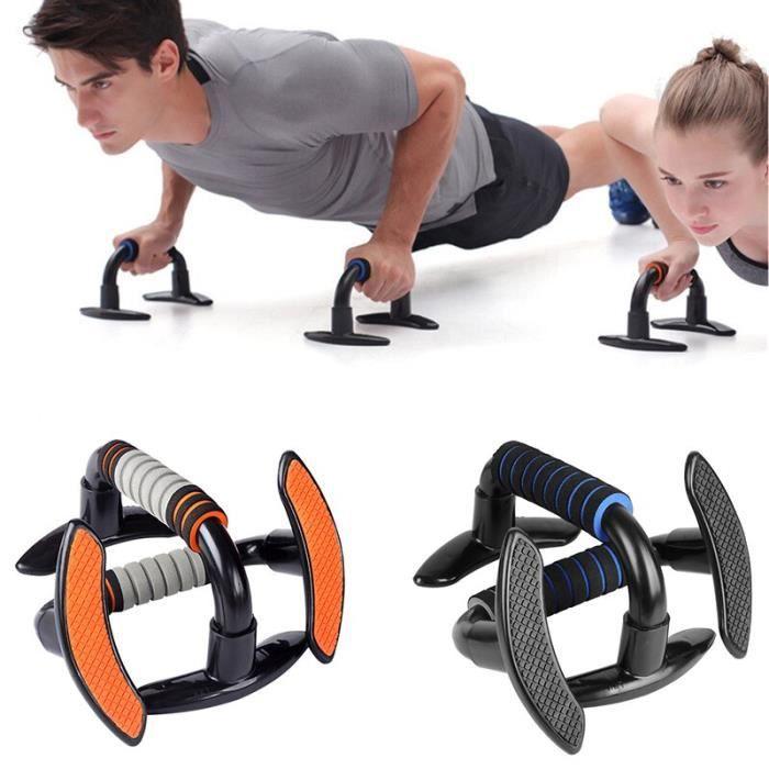 Barre de support de musculation musculation biceps Muscle exercice puissance Fitness poitrine abdomi - Modèle: Orange -